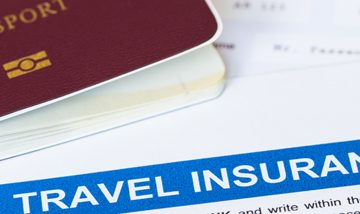 Travel Insurance document and passport