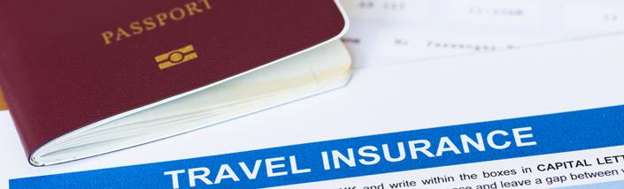 Travel Insurance document and passport