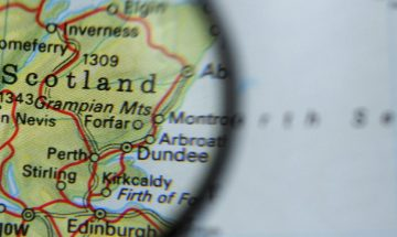 Scotland on a map