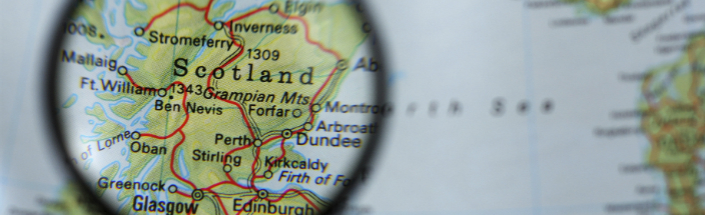 Scotland on a map