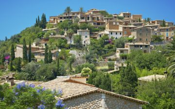 A hillside village in Majorca, Deia Deya