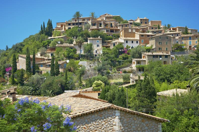 A hillside village in Majorca, Deia Deya