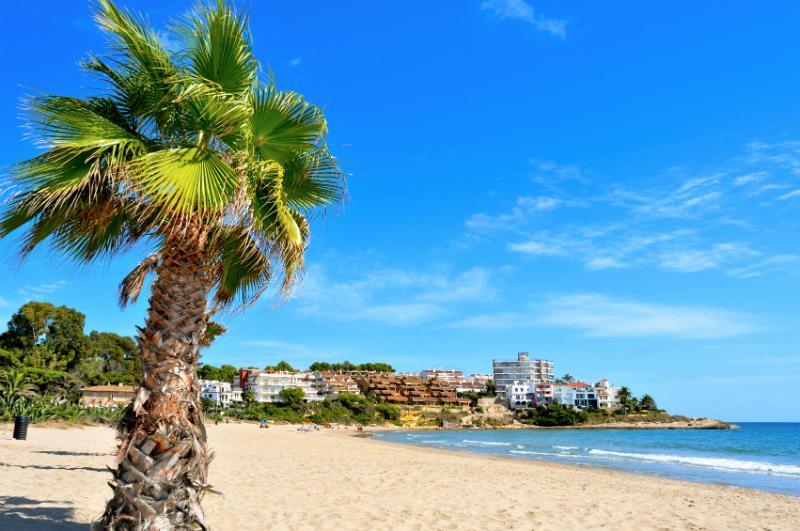 Coastline in Altafulla, Spain