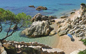 Costa Brava beach in CataloniaSpain