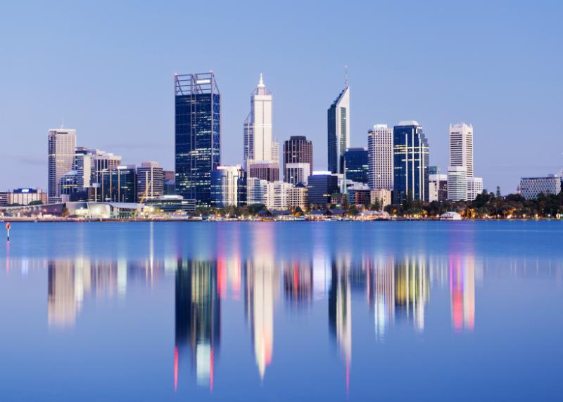 Perth Skyline at Night, Australia