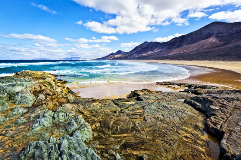 Rocky coast of the atlantic ocean at FuerteventuraRocky coast of the atlantic ocean at Fuerteventura