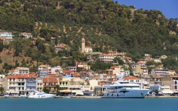 Zakynthos Harbor viewed from the sea