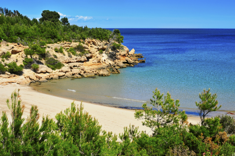 Beach in Ametlla-de-Mar Spain