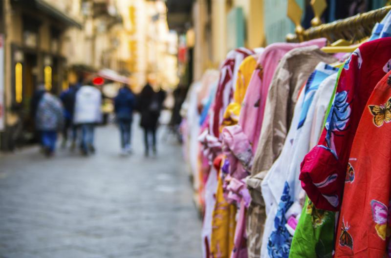 Shopping street in Sorrento