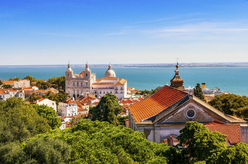 Aerial View of Lisbon