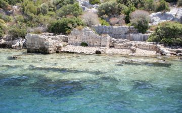 Ancient submerged city in Kekova, Antalya