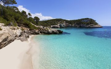 Sparkling blue waters on the Cala Mitjaneta in Majorca