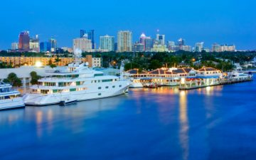 Fort Lauderdale at night, Florida