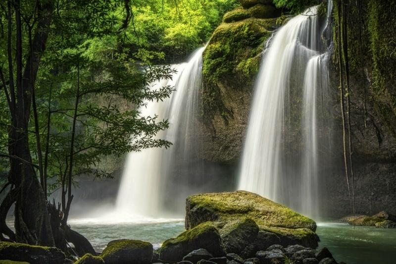 Heo Suwat Waterfall seen through a clearing in Pattaya