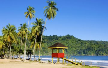 A hut on the beach of Maracas Bay in Trinidad