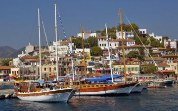 Marmaris Harbour in Turkey
