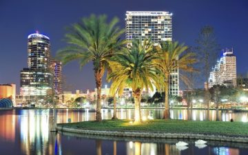 Orlando Night Scene Florida