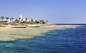 View of Sharm el Sheikh from the beach