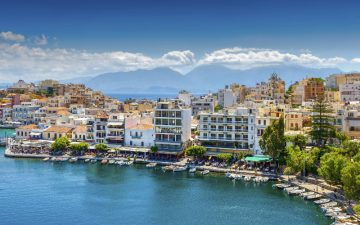 Harbour in Crete, Greece