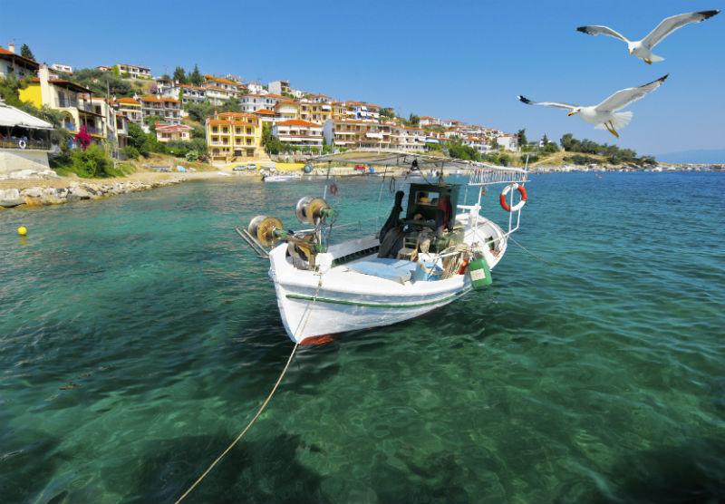 Fishermans boat in Halkidiki