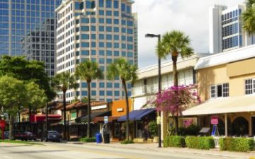 Fort Lauderdale shopping area
