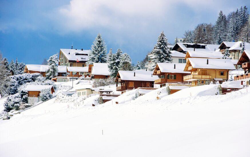 Chateaus in ski resort