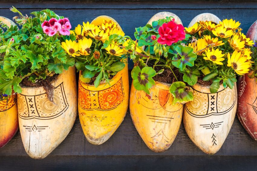 Traditional wooden Klomp shoes, Netherlands