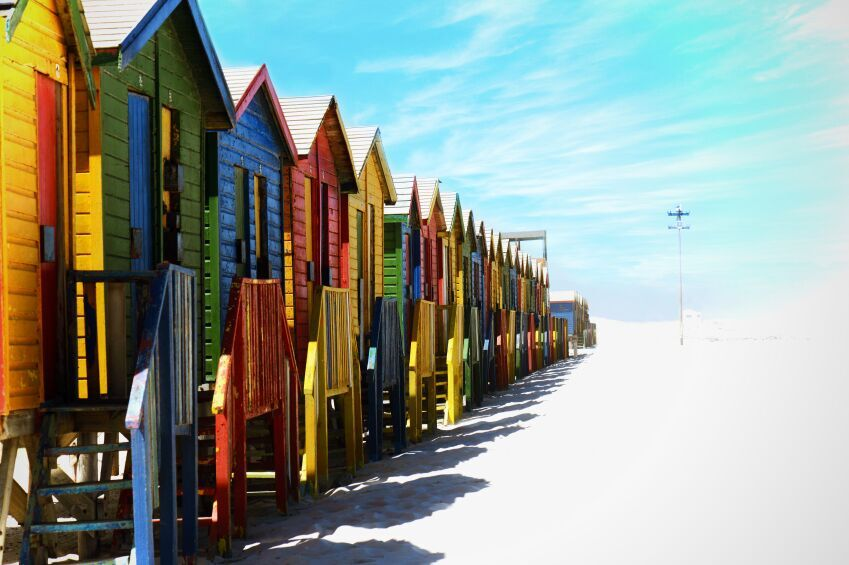 Beach Huts, Cape Town