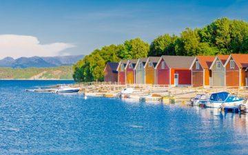Fishermen barn in Alesund, Norway