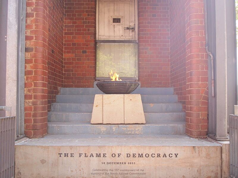 Flame of Democracy, Constitution Hill, Johannesburg
