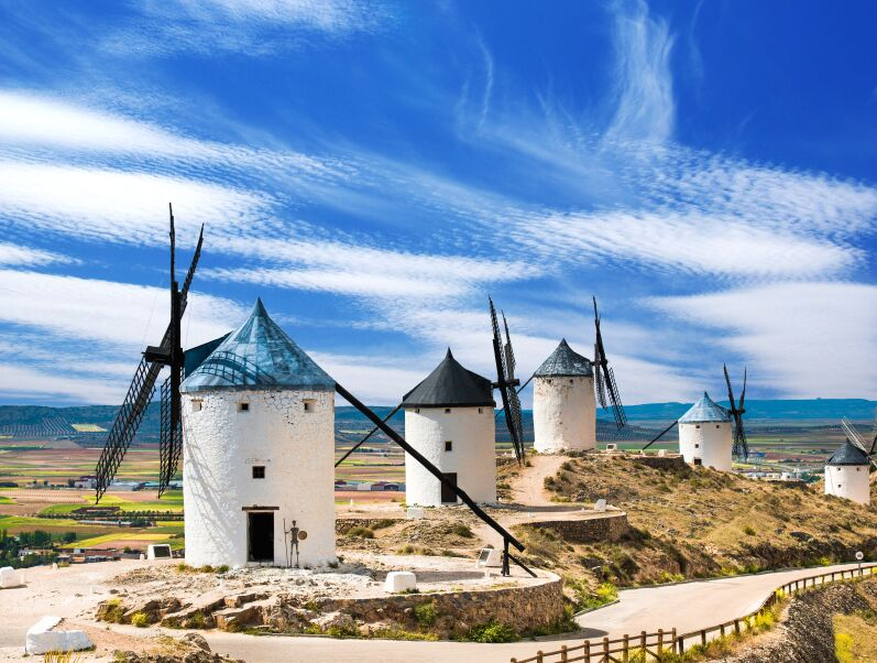 Group of Windmills, Consuegra, Spain