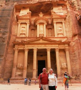 Roger and Christine Willis at Petra Jordan