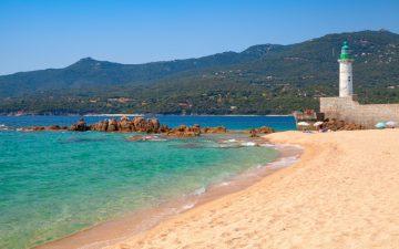 Corsica Beach with Lighthouse