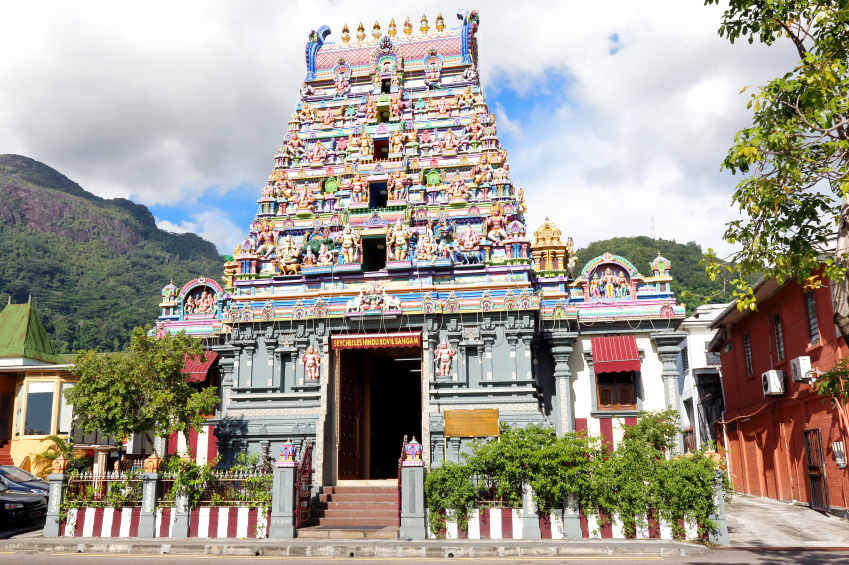 Temple in Seychelles