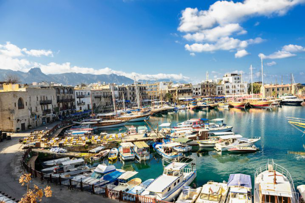Old Harbour in Kyrenia Northern Cyprus