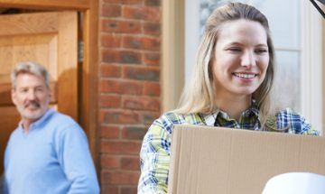 Student moving out of her parents home