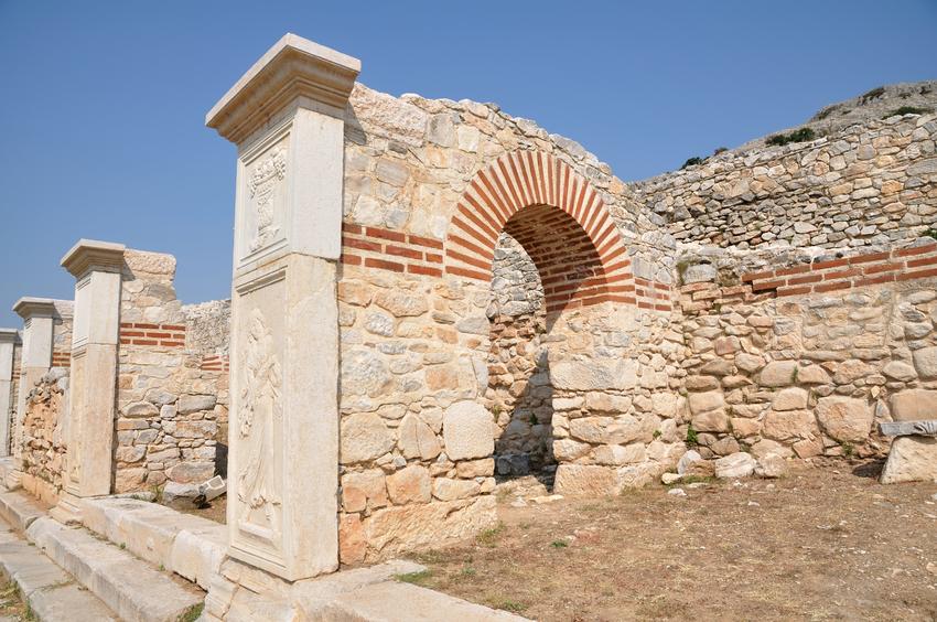 Ancient theatre in Philippi, Greece