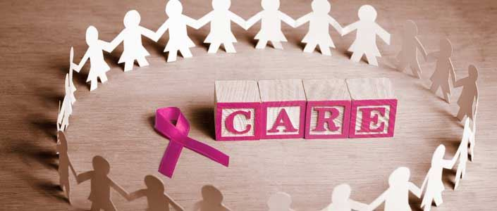 care with pink ribbon