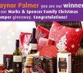 An overspilling christmas hamper - Gaynor Palmer Christmas Hamper Winner