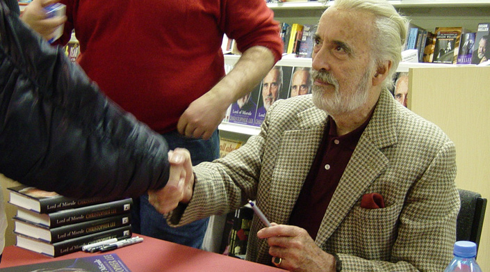 Christopher Lee book signing