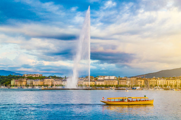 Jet d'Eau fountain in Geneva, Switzerland