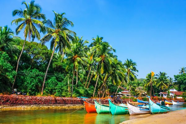 Goa, Indian Boats on the shore