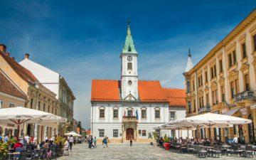King Tomislav Square in Varazdin, Croatia