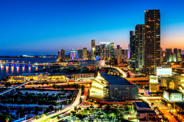 Miami by night, USA