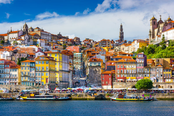 Riverside view in Porto, Portugal
