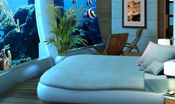 A view of a room in Poseidon Under Sea Resort in Fiji