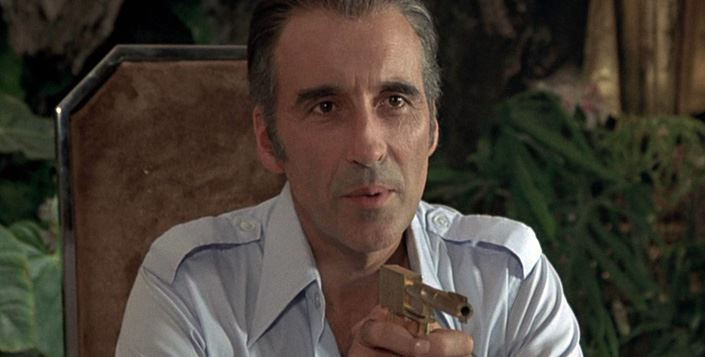 Sir Christopher Lee as Scaramanga