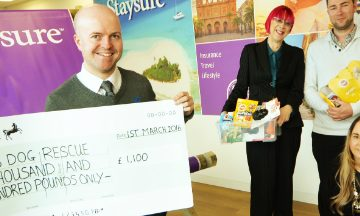 Staysure Charity Cheque Handover