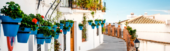 Traditional white houses in Mijas Malaga Province Spain