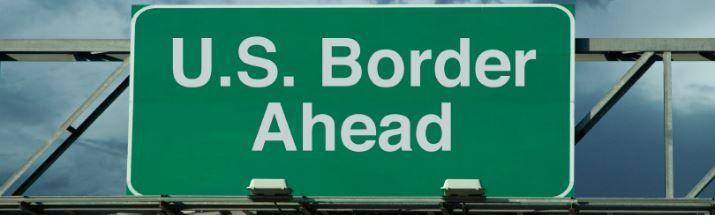 US border sign